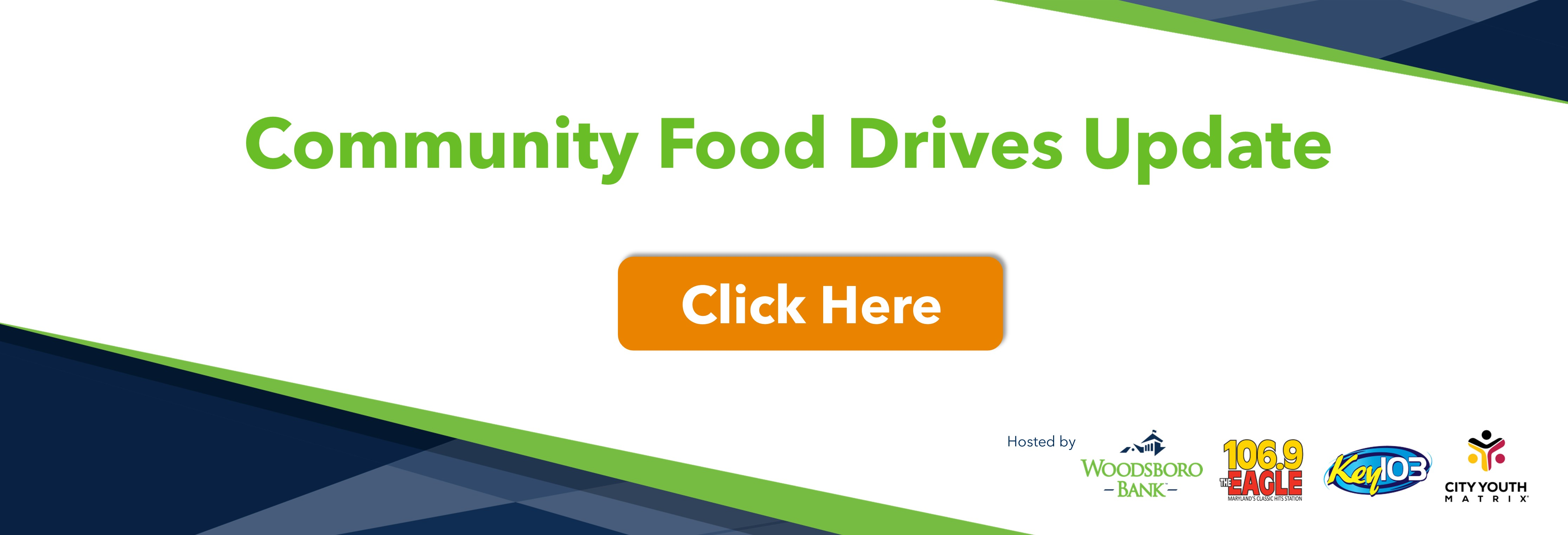 Community Food Drives Updates. click here